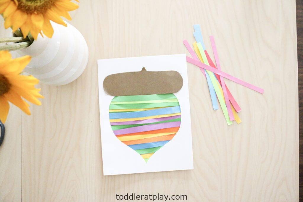 paper strip acorn craft- toddler at play (8)