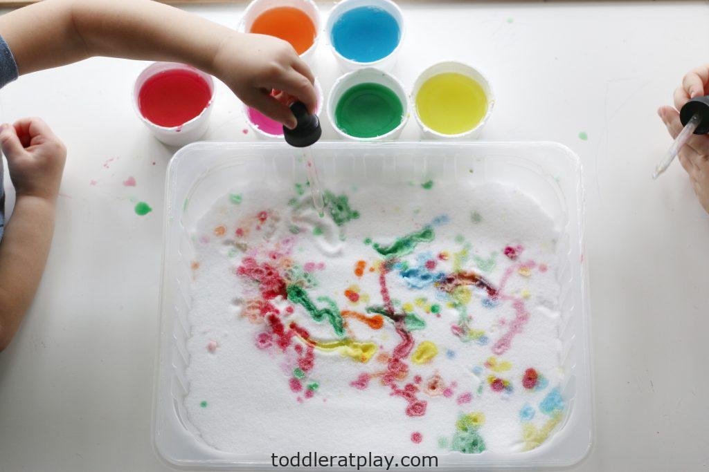 salt painting tray- toddler at play (4)