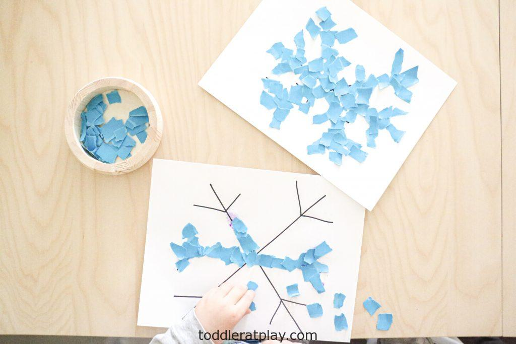 torn paper snowflakes- toddler at play (3)