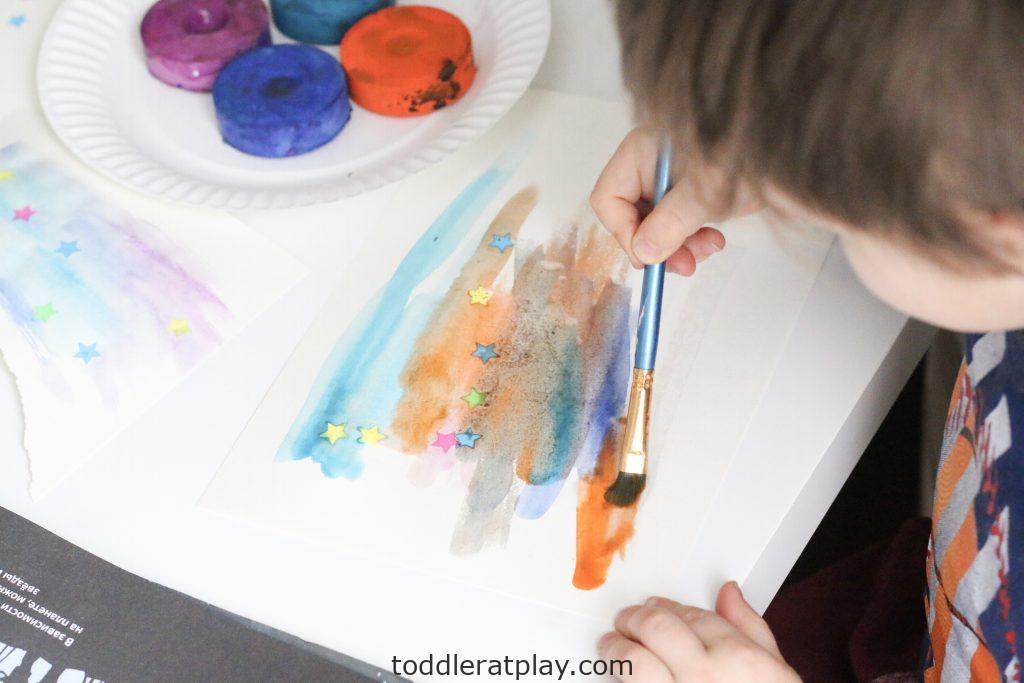 watercolor star craft- toddler at play (5)