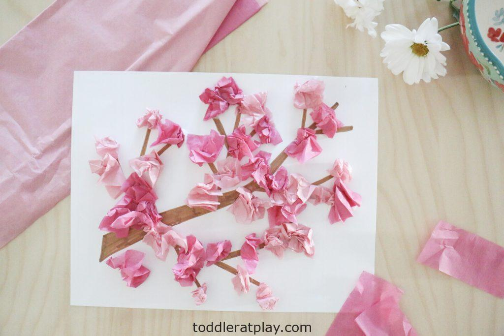 cherry blossom craft- toddler at play (3)