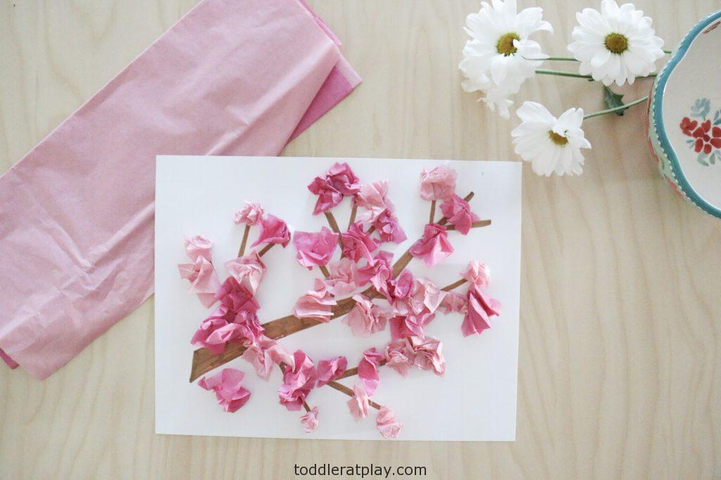 cherry blossom craft- toddler at play (4)