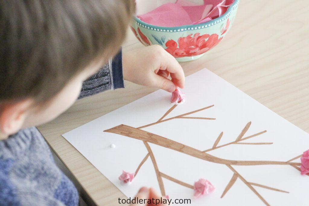 cherry blossom craft- toddler at play (2)
