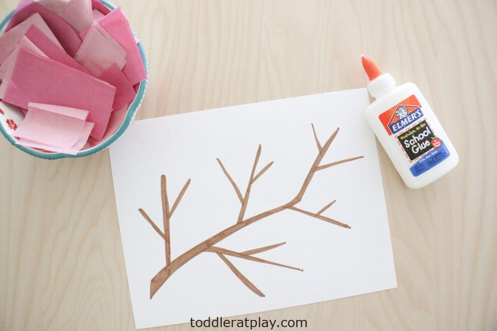 cherry blossom craft- toddler at play (6)