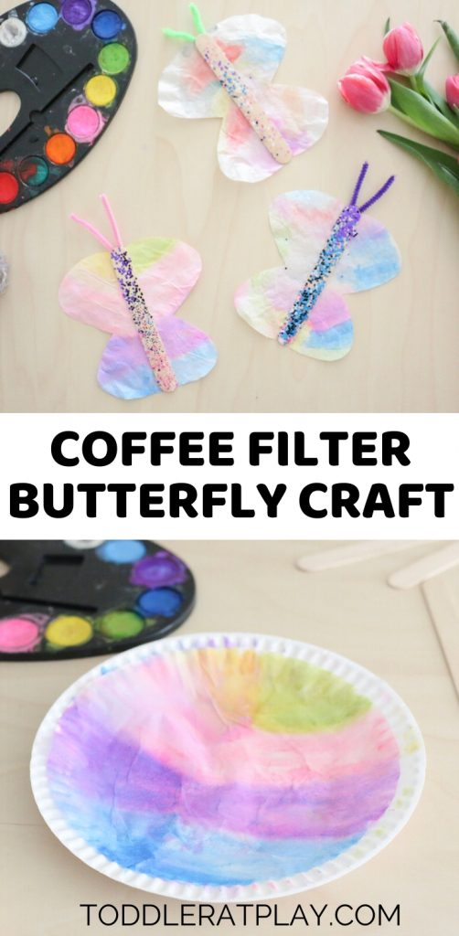 coffee filter butterfly craft - toddler at play (2)