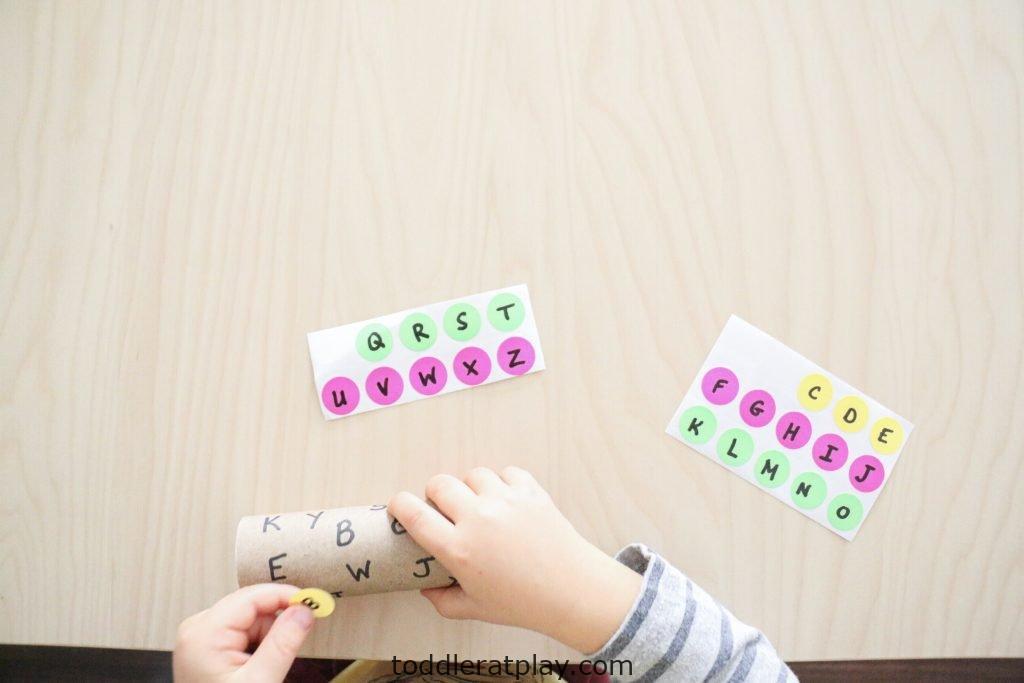 dot sticker alphabet match- toddler at play (5)