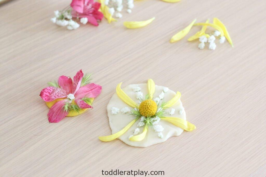 floral play-dough medallions- toddler at play (16)