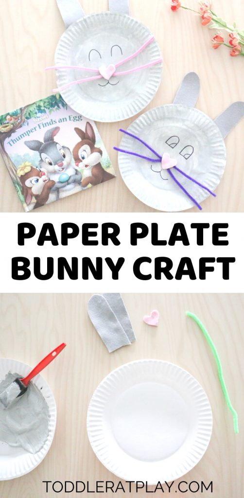 paper plate bunny craft - toddler at play