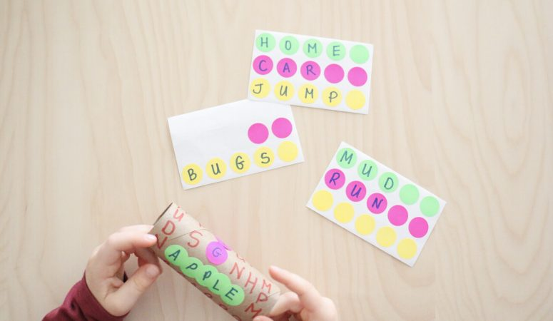Paper Roll Word Search Activity
