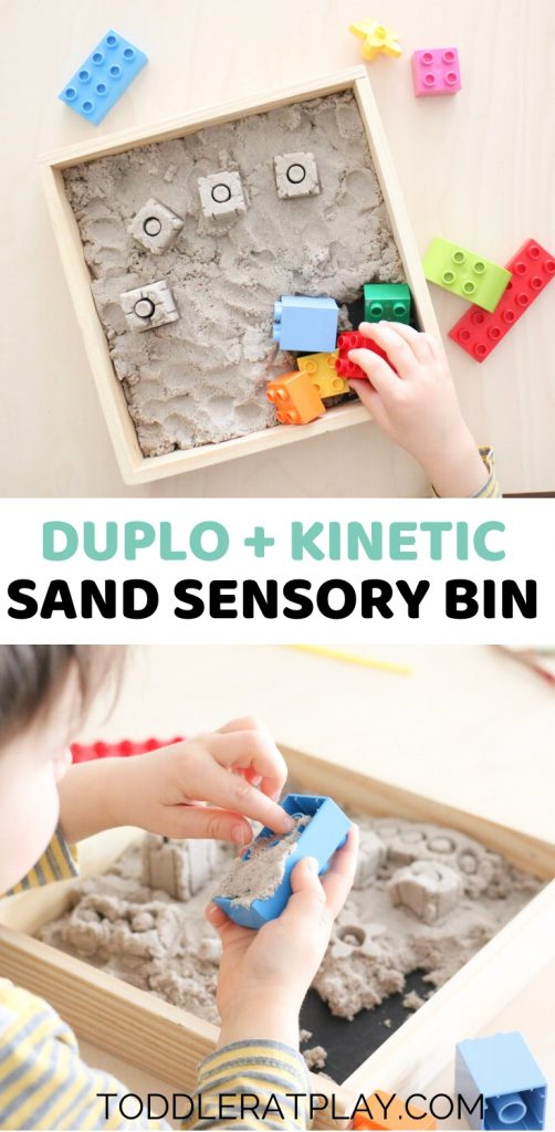 duplo kinetic sand sensory bin- toddler at play (2)