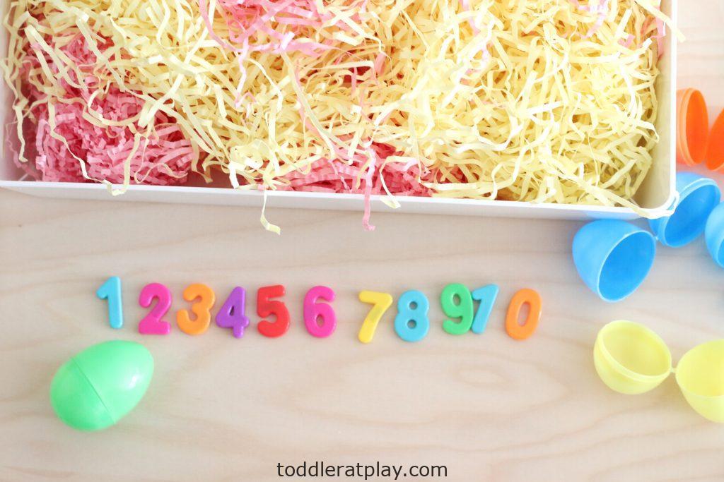 easter egg number hunt- toddler at play (2)