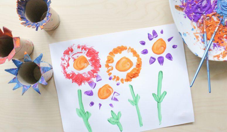 Paper Roll Flower Craft (VIDEO)