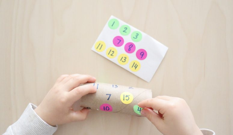 Paper Roll Number Match Activity
