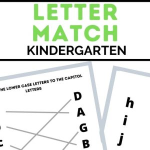letter match printables