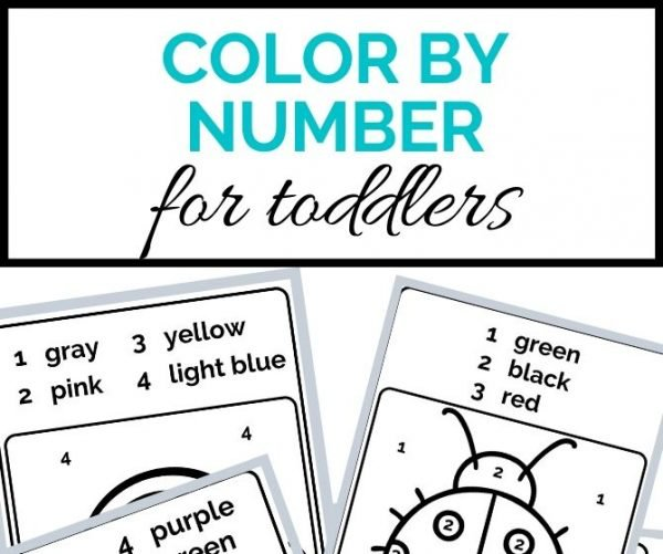 color by number for toddlers- toddler at play