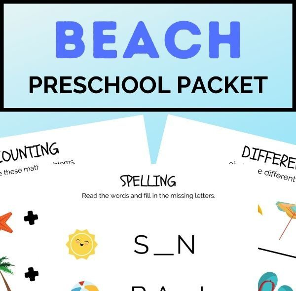 beach pbeach preschool packet (2)reschool packet (2)