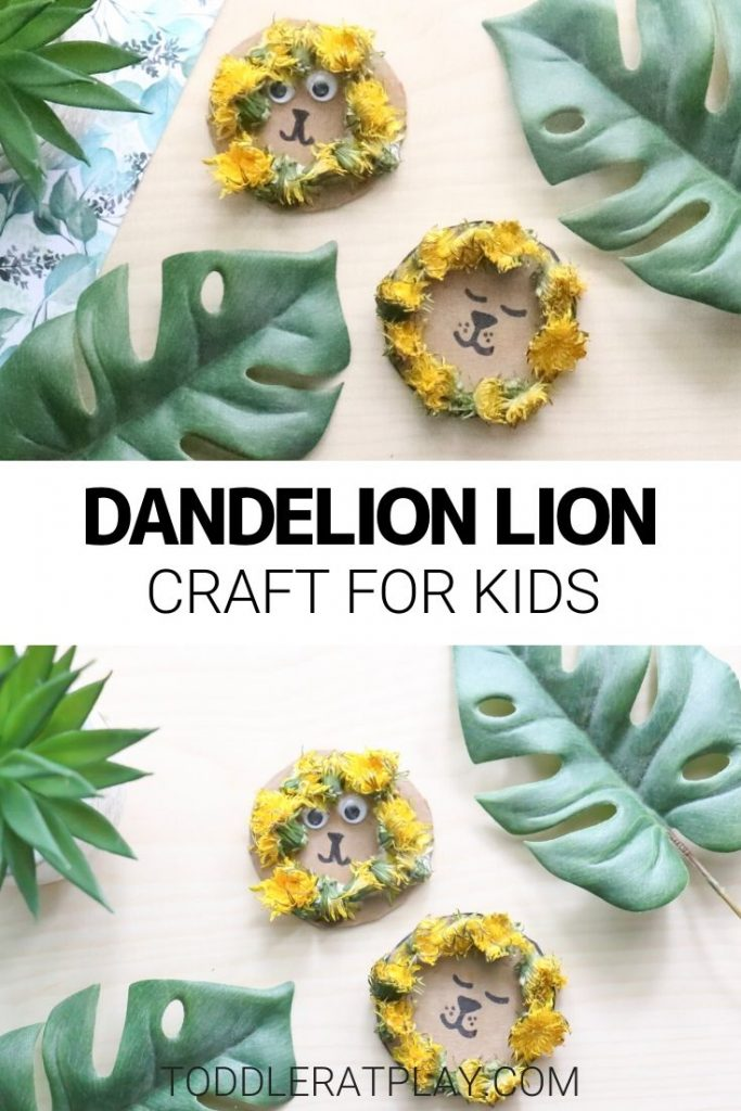 dandelion lion craft- toddler at play (1)