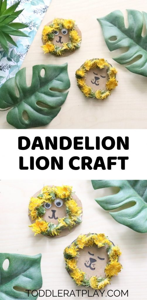 dandelion lion craft- toddler at play (2)