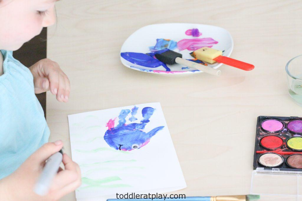 handprint fathers day card- toddler at play (5)
