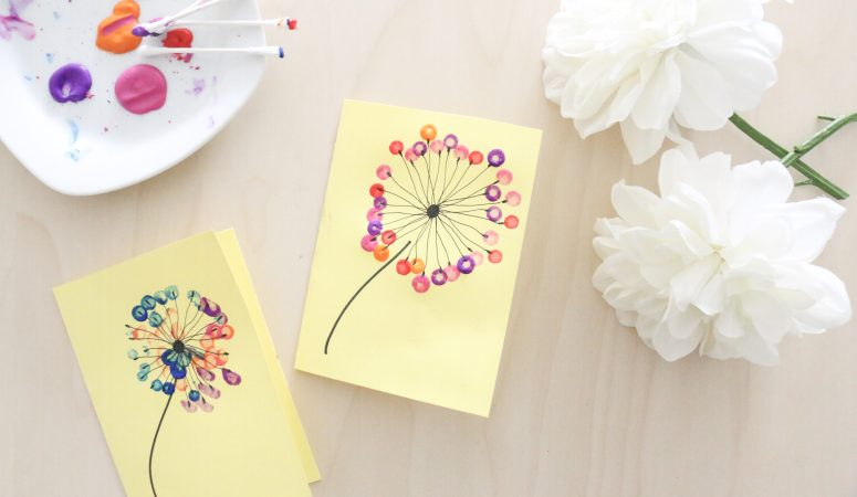 Mother's Day Dandelion Card Craft (VIDEO)
