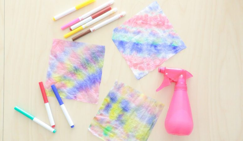 Paper Towel Tie Dye Activity