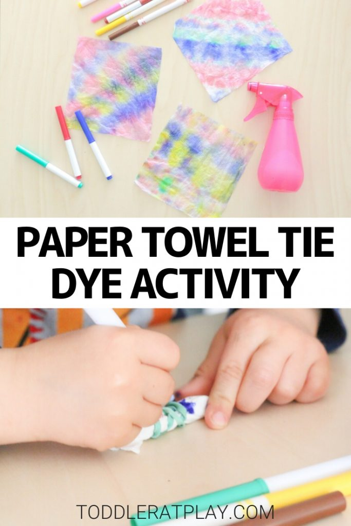 paper towel tie dye activity - toddler at play (3)