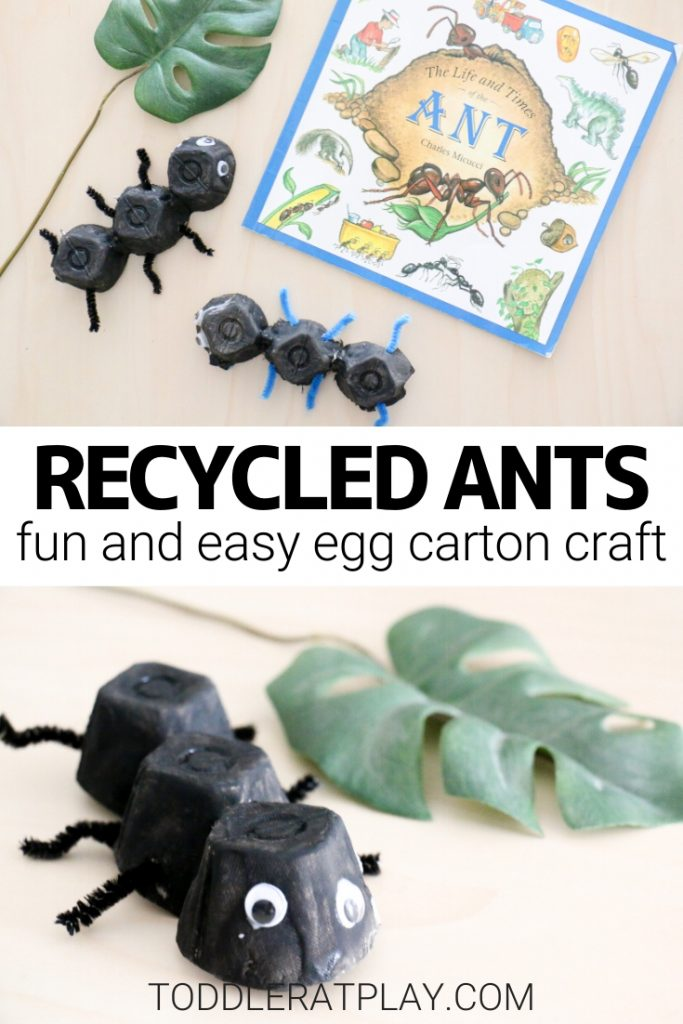 recycled ant craft- toddler at play (1)