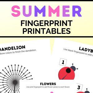 summer fingerprint printables (2)