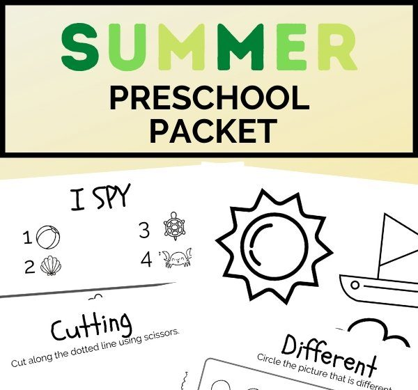 summer preschool packet (2)
