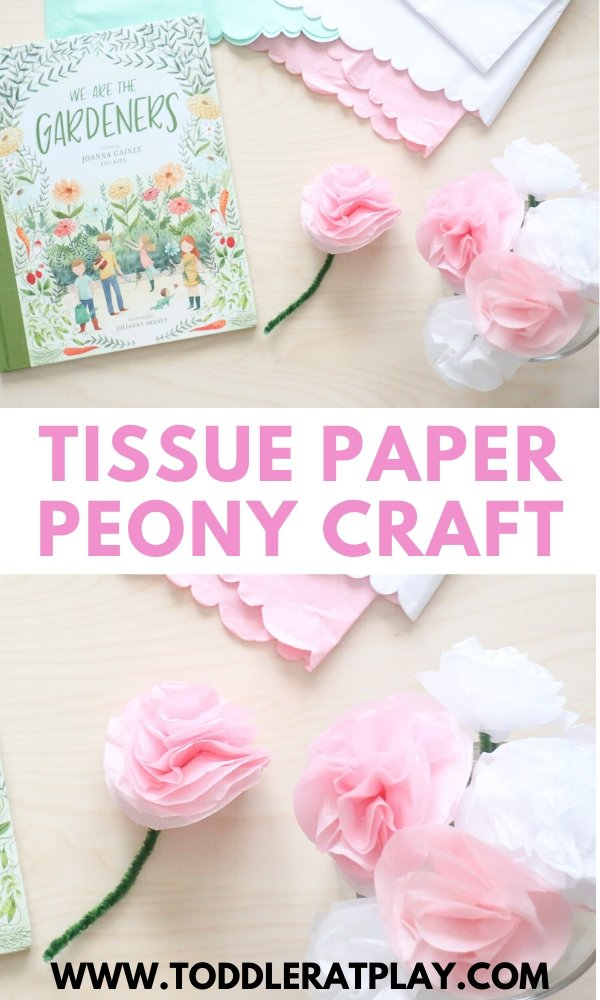 tissue paper peony craft- toddler at play (2)