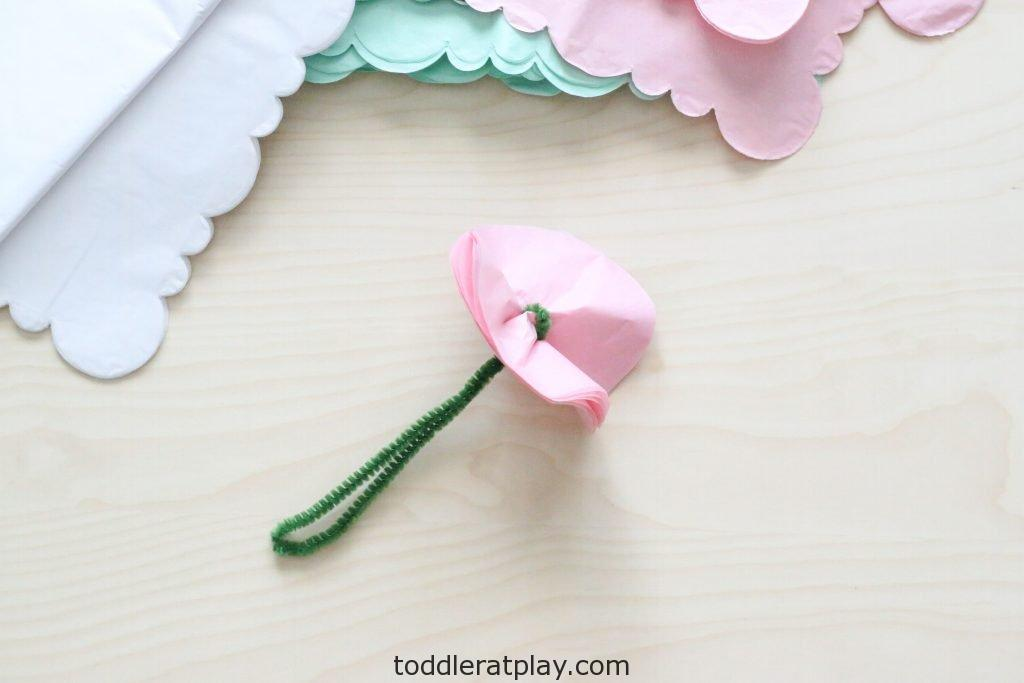 tissue paper peony craft- toddler at play (4)