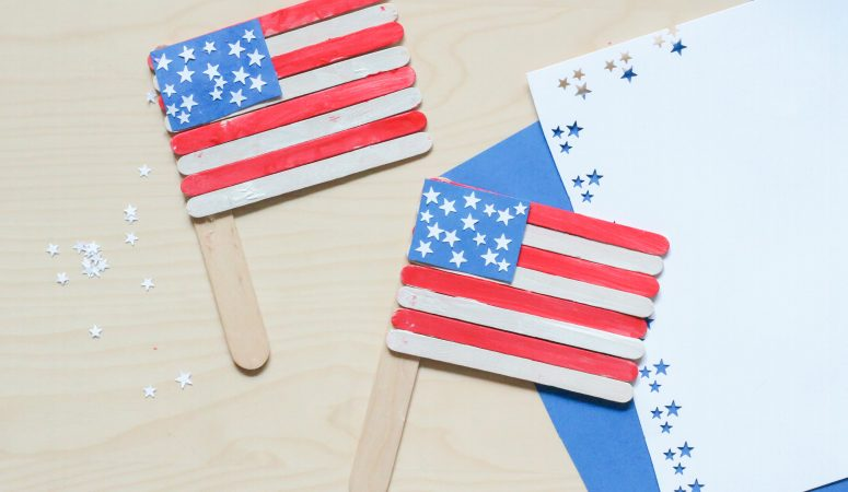 Popsicle Stick American Flag Craft