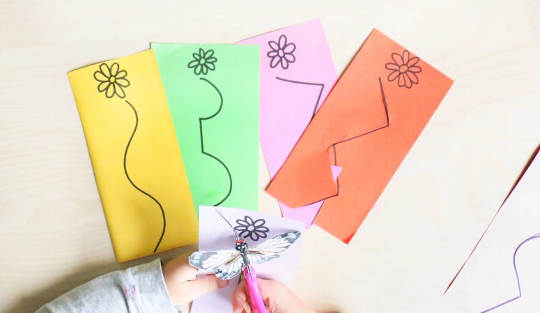 Butterfly Scissor Skills Activity