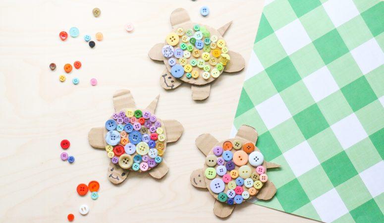 Button Turtle Craft (VIDEO)