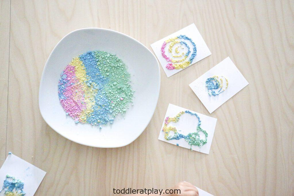 crushed chalk art- toddler at play (17)