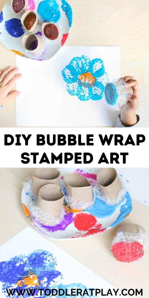 diy bubble wrap stamp art- toddler at play (2)