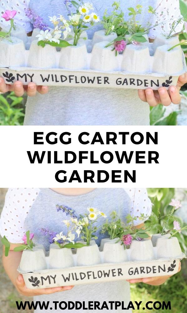 egg carton wildflower garden - toddler at play (2)