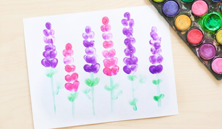 Fingerprint Lupine Craft