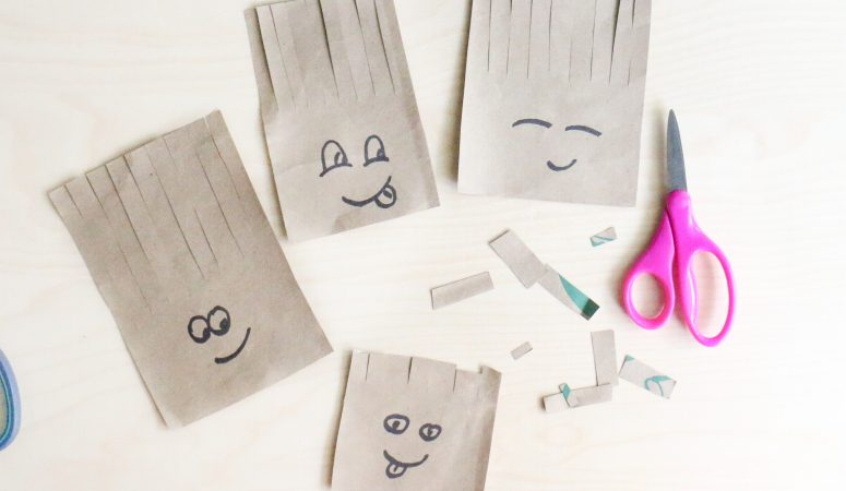 Paper Bag Haircuts Activity (VIDEO)