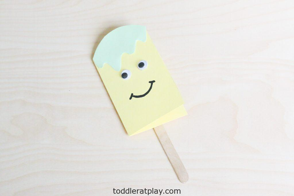 popsicle fathers day card craft- toddler at play (7)