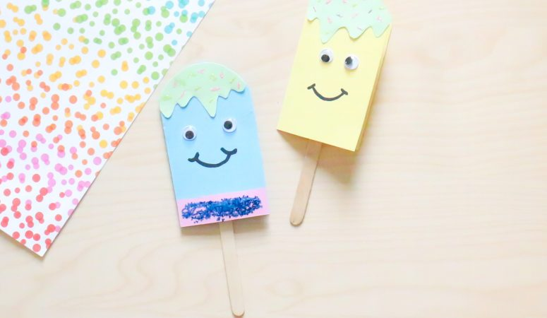 Popsicle Father's Day Card Craft