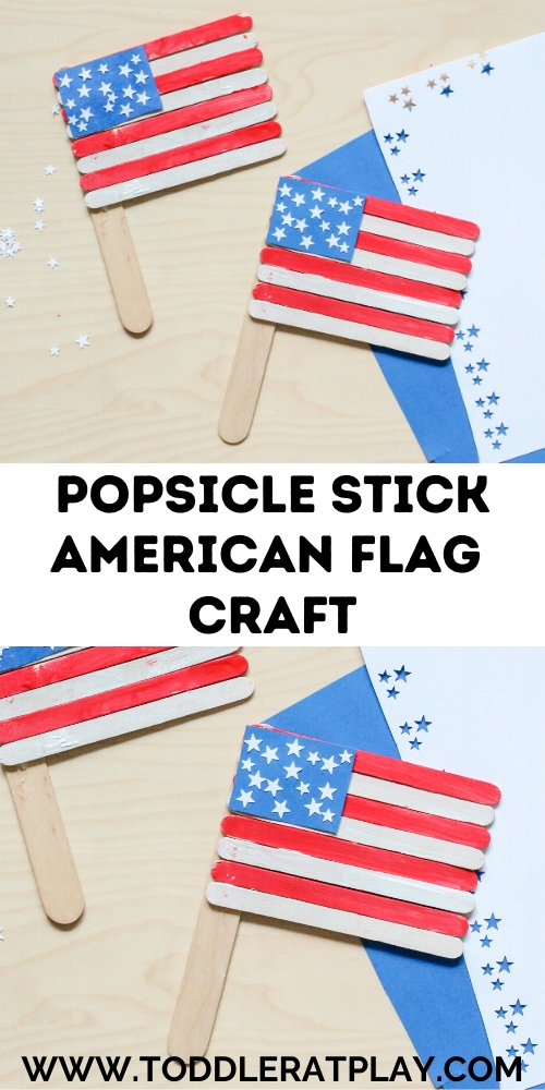 popsicle stick american flag craft - toddler at play (1)