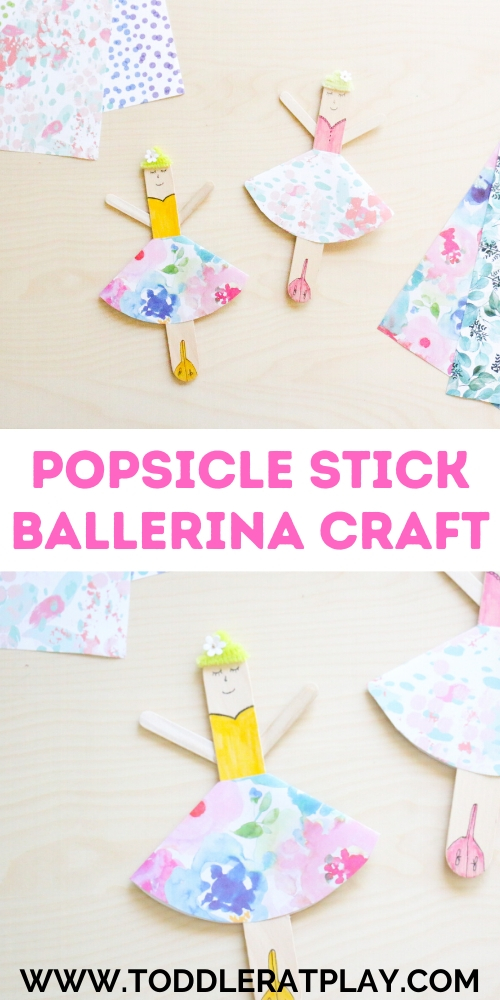 popsicle stick ballerina craft- toddler at play