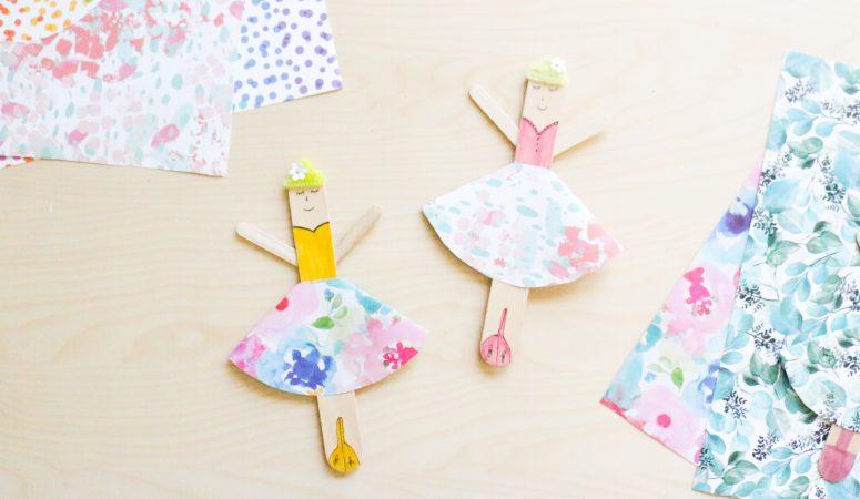 Popsicle Stick Ballerina Craft
