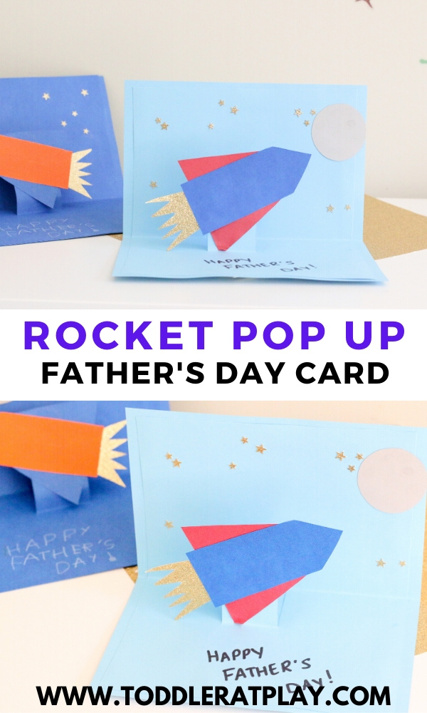 rocket pop up fathers day card- toddler at play (2)