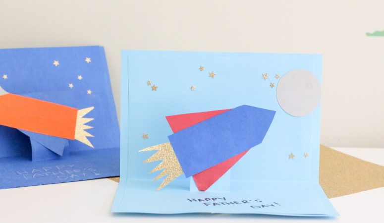 Rocket Pop Up Father's Day Card