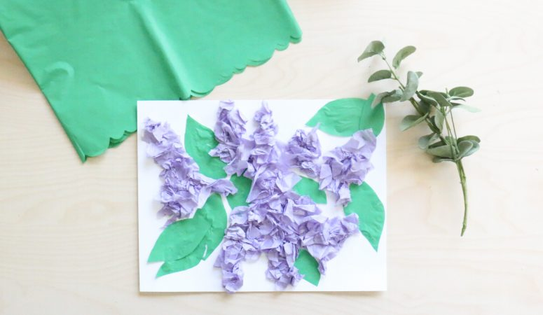 Tissue Paper Lilac Craft