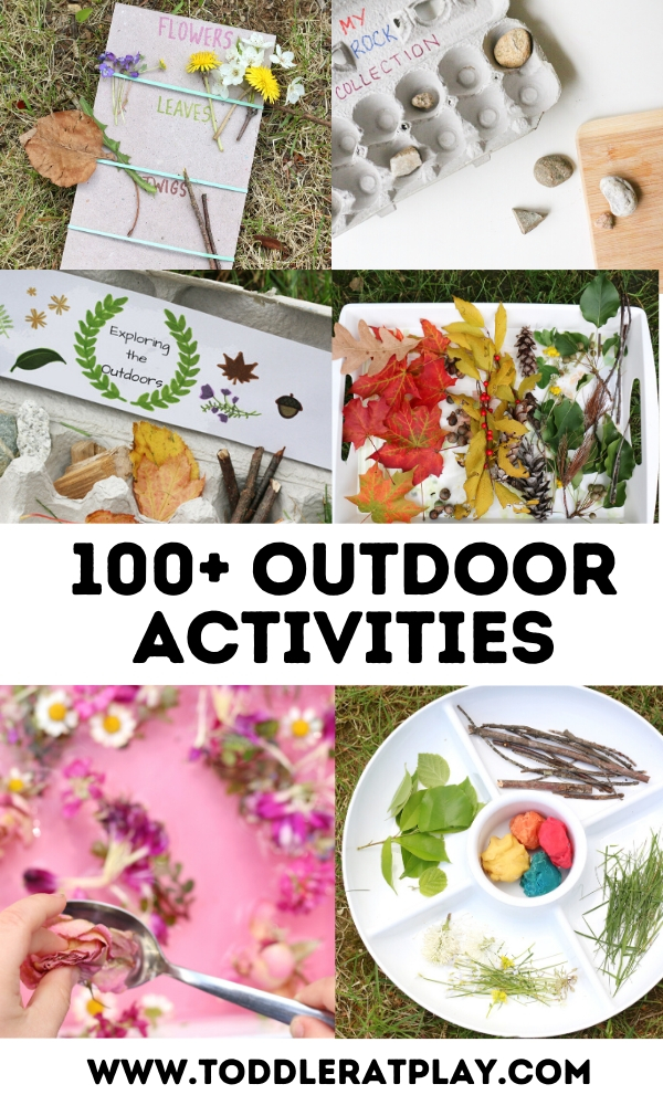100+ outdoor activities - toddler at play