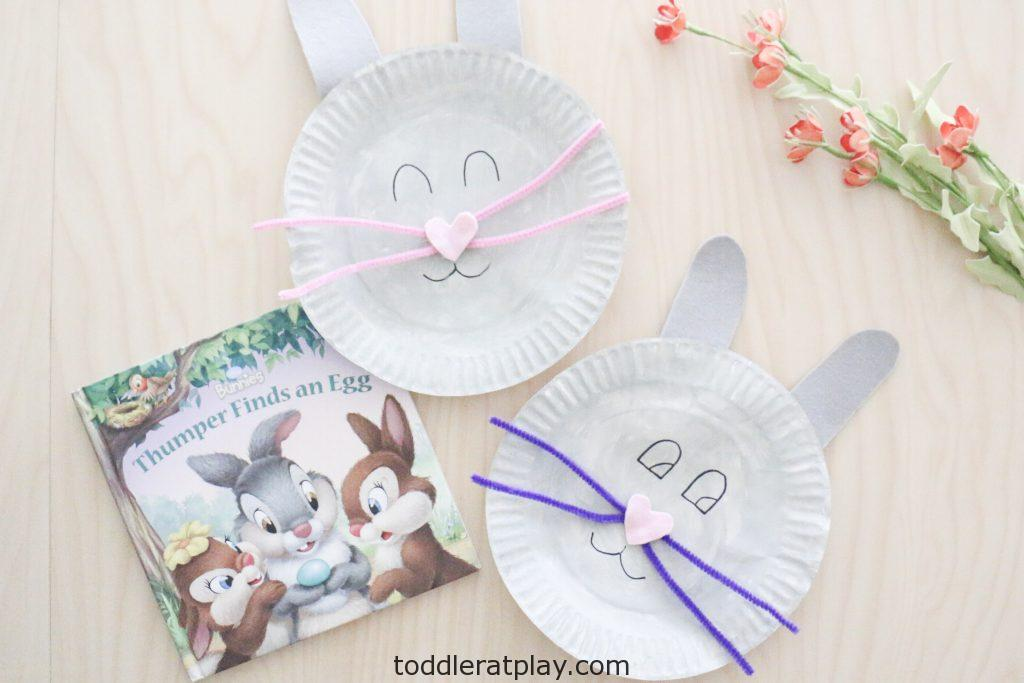 paper plate bunny craft- toddler at play