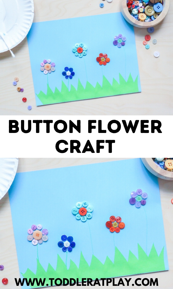 button flower craft- toddler at play (2)